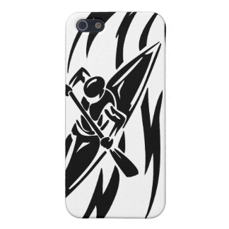 Kayaking Extreme Sport Graphic in Black & White Case For iPhone SE/5/5s