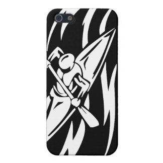 Kayaking Extreme Sport Graphic in Black & White iPhone SE/5/5s Cover