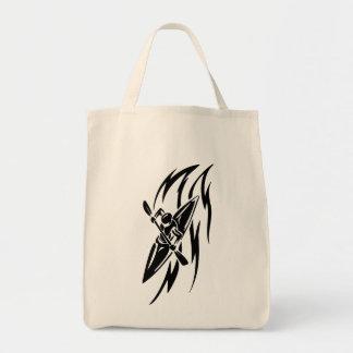 Kayaking Extreme Sport Graphic in Black & White Tote Bag
