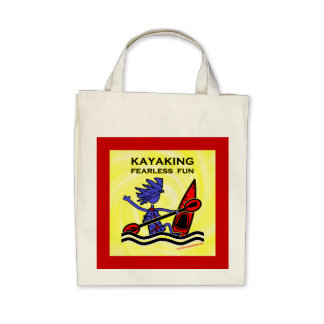 Kayaking Fearless Fun Tote Bags