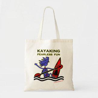 Kayaking Fearless Fun Canvas Bags