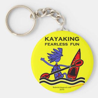 Kayaking Fearless Fun Basic Round Button Keychain
