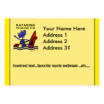 Kayaking Fearless Fun Business Card Template