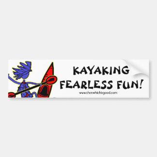 Kayaking Fearless Fun Car Bumper Sticker