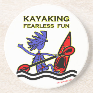 Kayaking Fearless Fun Drink Coasters