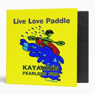 Kayaking Fearless Fun Gifts 3 Ring Binder