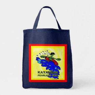 Kayaking Fearless Fun Gifts Grocery Tote Bag