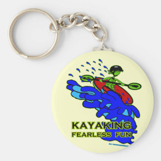 Kayaking Fearless Fun Gifts Basic Round Button Keychain