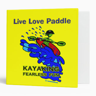 Kayaking Fearless Fun Gifts Binder