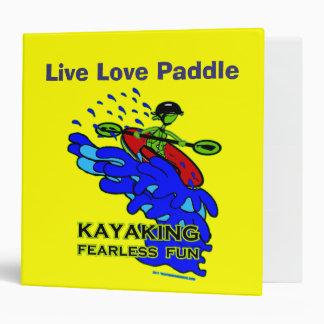 Kayaking Fearless Fun Gifts Binder