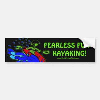 Kayaking Fearless Fun Gifts Bumper Sticker