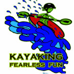 Kayaking Fearless Fun Gifts Photo Cut Outs