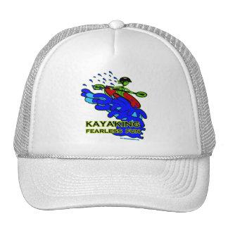 Kayaking Fearless Fun Gifts Trucker Hat
