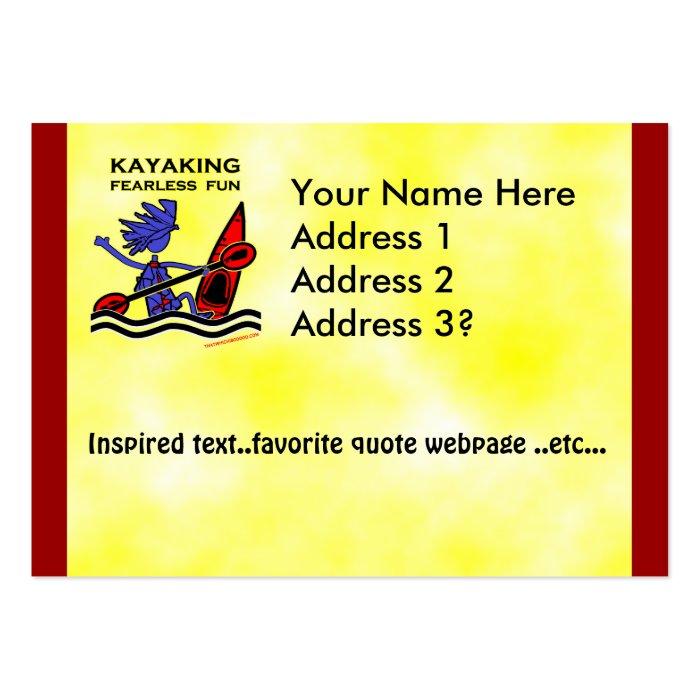 Kayaking Fearless Fun Large Business Card