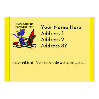 Kayaking Fearless Fun Large Business Cards (Pack Of 100)