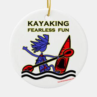 Kayaking Fearless Fun Ornaments