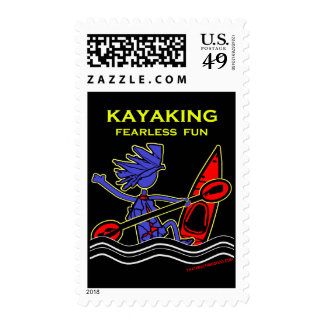 Kayaking Fearless Fun Postage Stamp