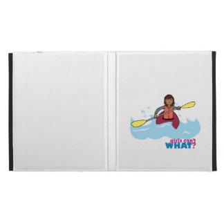 Kayaking Girl iPad Folio Cover