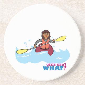 Kayaking Girl Beverage Coaster