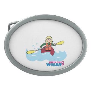 Kayaking Girl - Light/Blonde Oval Belt Buckle