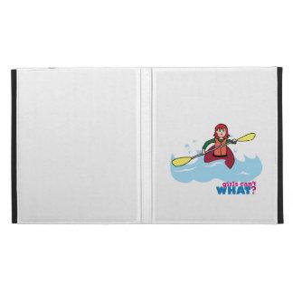 Kayaking Girl - Light/Red iPad Folio Case