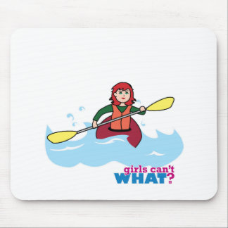 Kayaking Girl - Light/Red Mouse Pad