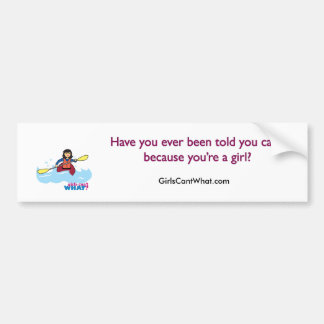 Kayaking Girl - Medium Bumper Sticker