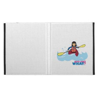 Kayaking Girl - Medium iPad Folio Case