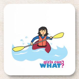 Kayaking Girl - Medium Drink Coaster
