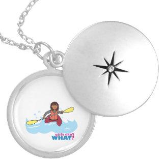 Kayaking Girl Personalized Necklace