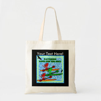 Kayaking Good For The Soul Canvas Bags