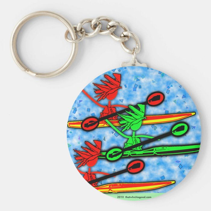 Kayaking Good For The Soul Keychain