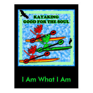 Kayaking Good For The Soul Postcard