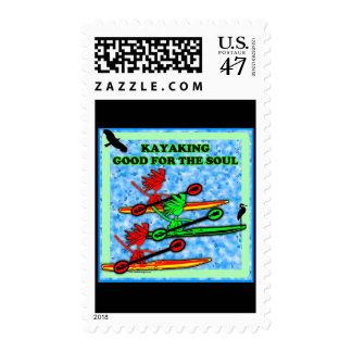 Kayaking Good For The Soul Stamp