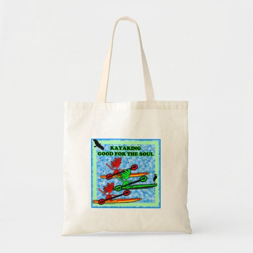 Kayaking Good For The Soul Tote Bags