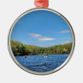 Kayaking Hidden Valley Lake Metal Ornament