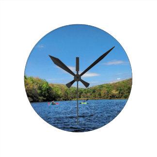 Kayaking Hidden Valley Lake Round Clock