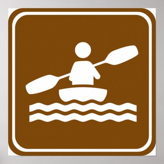 Kayaking Highway Sign