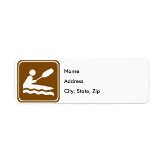 Kayaking Highway Sign Label