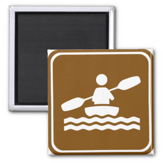Kayaking Highway Sign Magnet