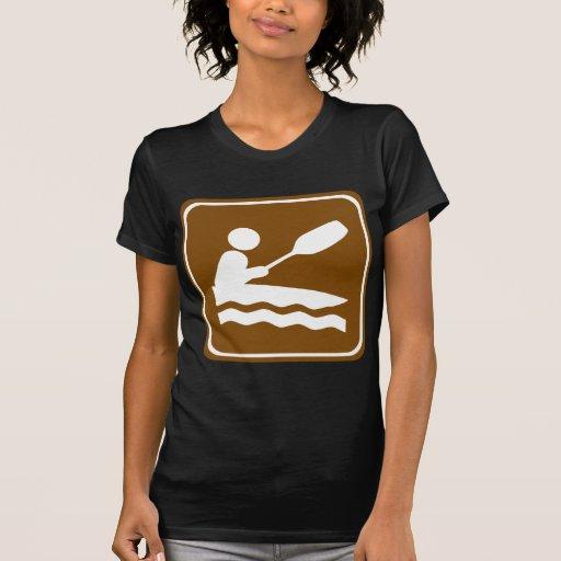 Kayaking Highway Sign Tshirts