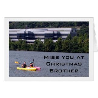 KAYAKING HUMOR AS I MISS BROTHER AT CHRISTMAS GREETING CARD