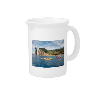 Kayaking in Azores Beverage Pitcher