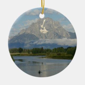 Kayaking in Grand Teton National Park Ceramic Ornament