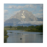 Kayaking in Grand Teton National Park Ceramic Tile