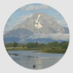 Kayaking in Grand Teton National Park Classic Round Sticker