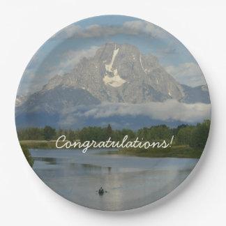 Kayaking in Grand Teton National Park Paper Plate