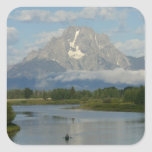Kayaking in Grand Teton National Park Square Sticker