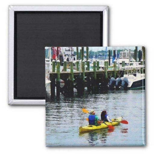 Kayaking in Newport, RI 2 Inch Square Magnet