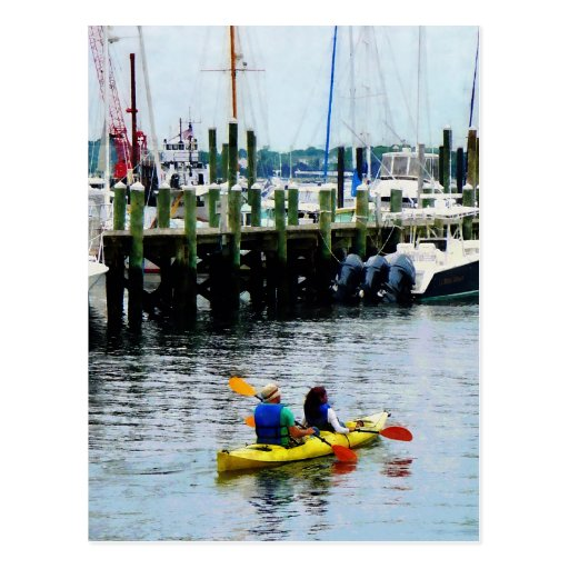 Kayaking in Newport, RI Postcard